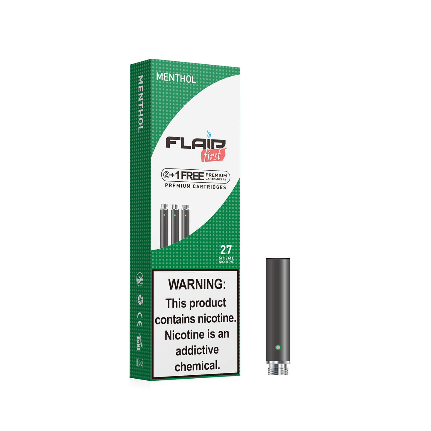 Main image of Flair E-cig Refills - Cartomizers (27 Mg Menthol)