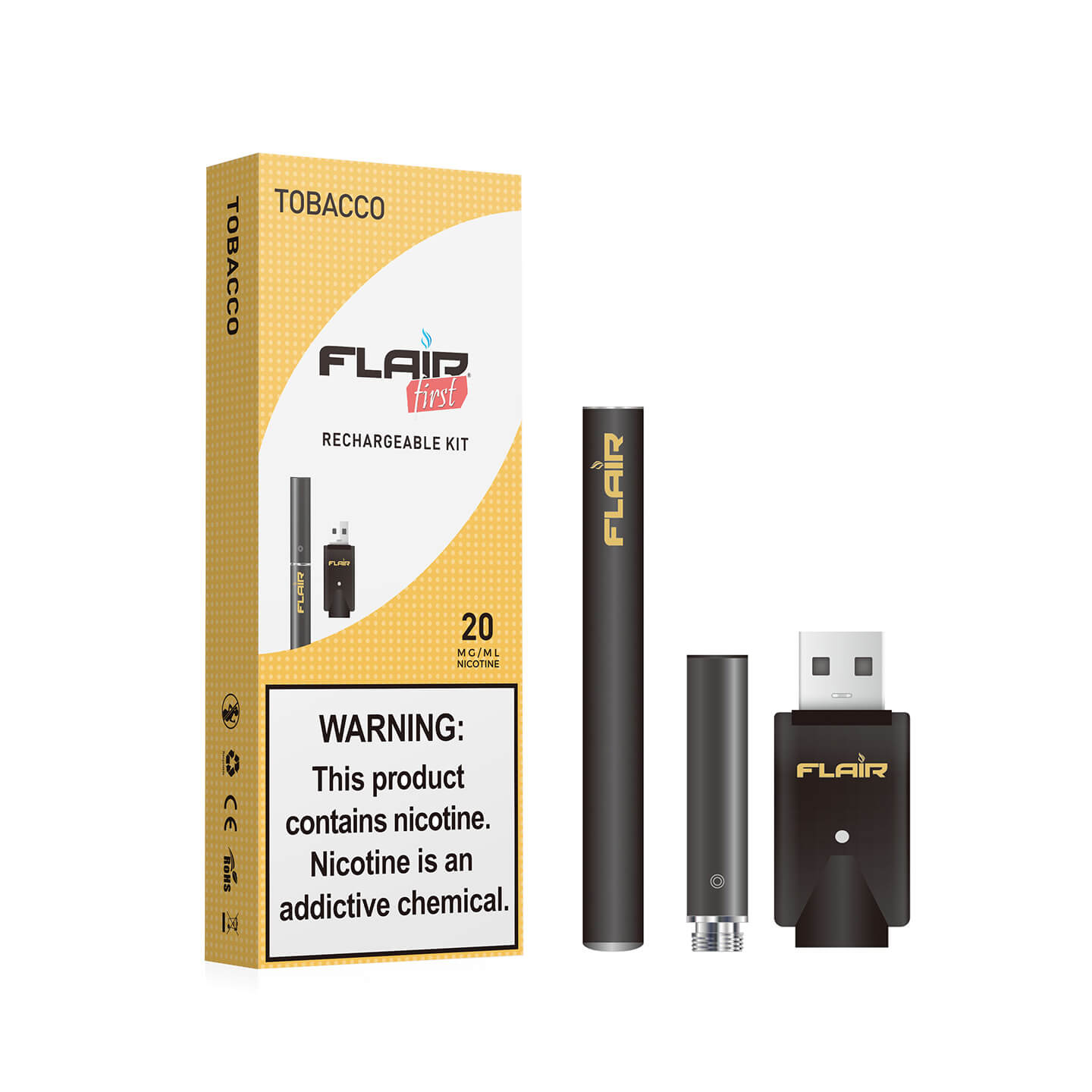 Main image of Flair Rechargeable E-cig Kit (20 Mg Tobacco)