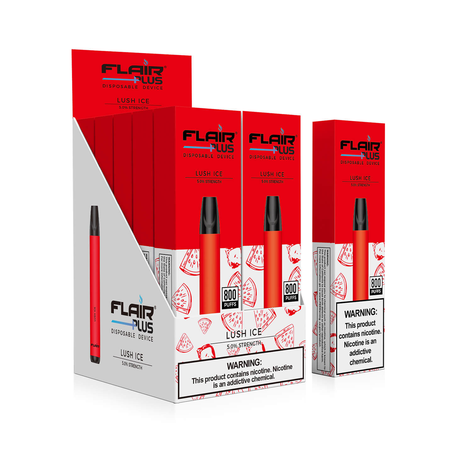 Box image of Flair Plus Disposable Devices (Lush Ice - 800 Puffs)