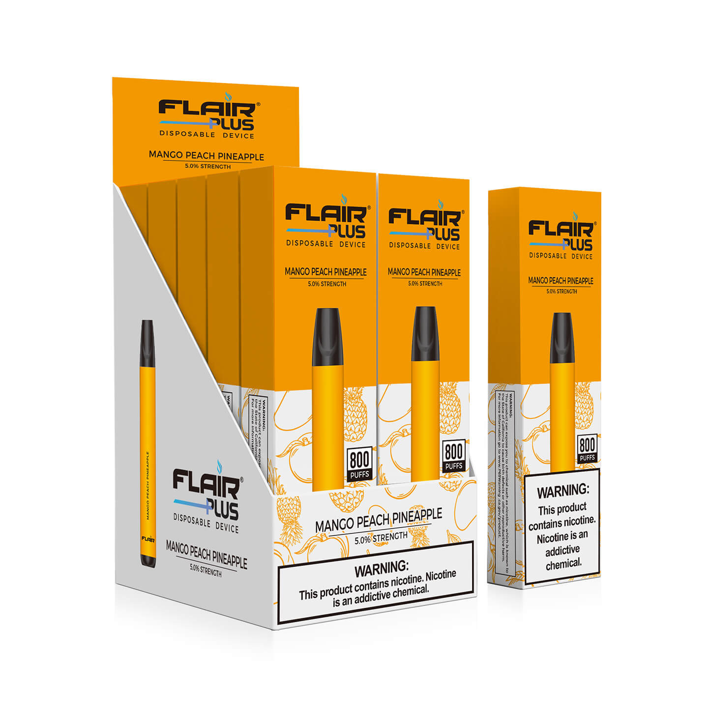 Flair Plus Disposable Device - Mango Peach Pineapple - Box image