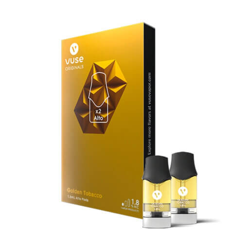 vuse alto flavor pack 1.8 golden tobacco Pods