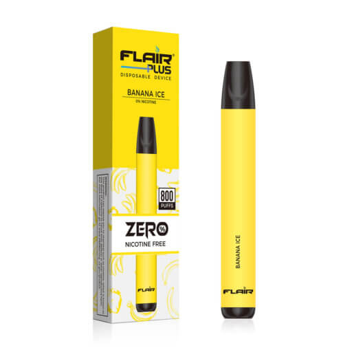 flair plus disposable device zero nicotine banana ice