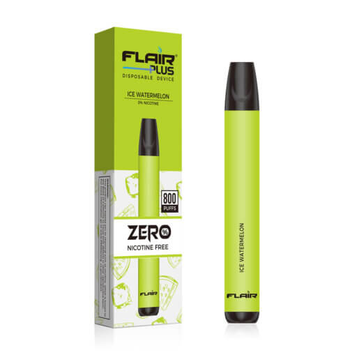 flair plus disposable device-zero nicotine ice watermelon